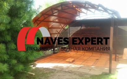 Навес из поликарбоната для дачи для дачи 4х4м Долгопрудный